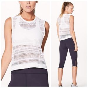 Lululemon Sweat your heart out Tank - White, 8